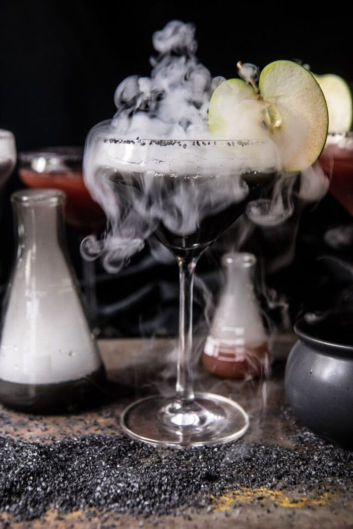 front on photo of black Poison Apple Martini