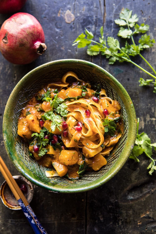 Slow Cooker Saucy Thai Butternut Squash Curry | halfbakedharvest.com #slowcooker #easy #healthy #vegan #fallrecipes