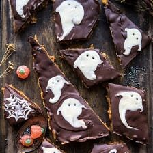 BOO! Chocolate Peanut Butter Bars.
