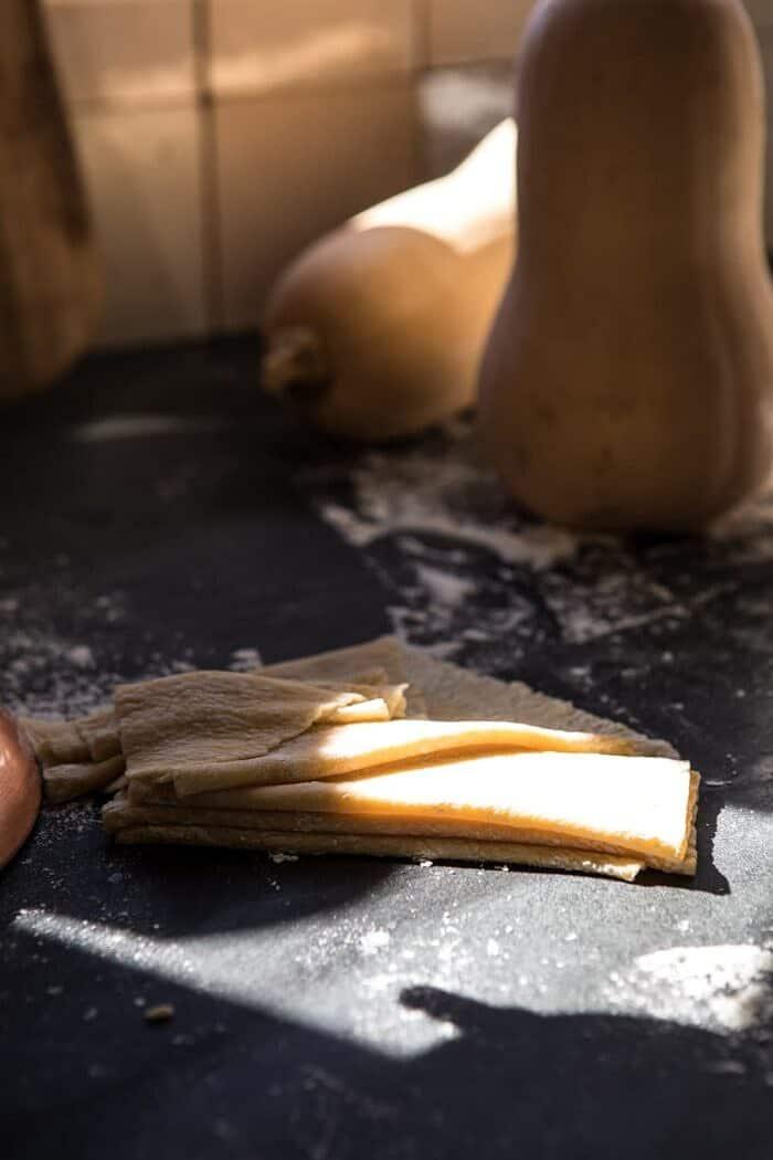 photo of fresh pasta sheet