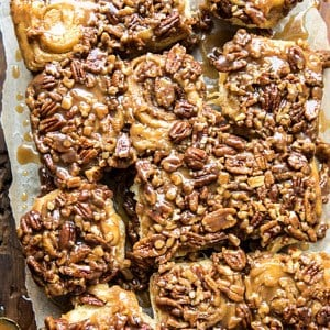 Extra Sticky Maple Pecan Sticky Buns.