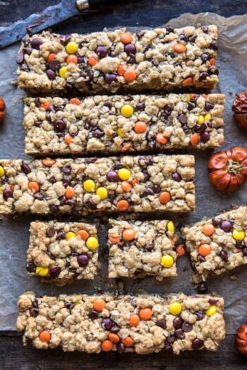 Monster Oatmeal Chocolate Chip Cookie Bars.