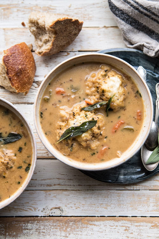One Pot Chicken and Sage Dumplings | halfbakedharvest.com #comfortfood #chicken #soup #fallrecipes #easyrecipes