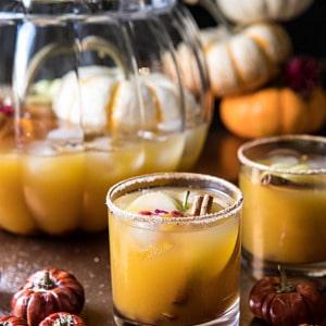 Pumpkin Patch Punch | halfbakedharvest.com #pumpkin #cocktails #punch #tahnksgiving #halloween
