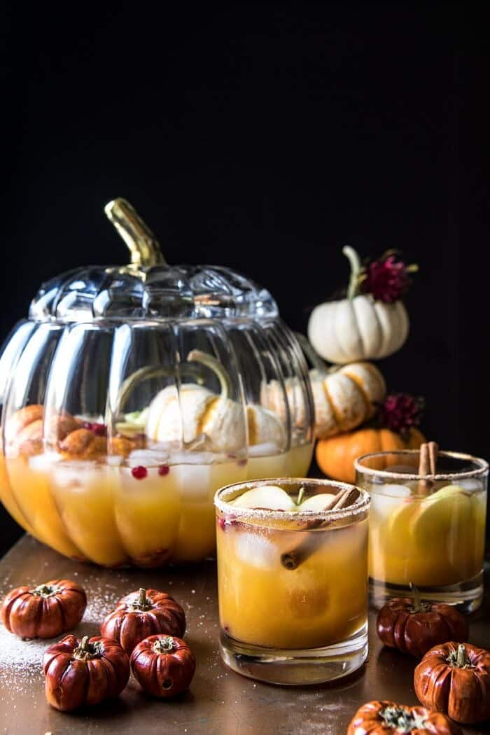 Pumpkin Patch Punch | halfbakedharvest.com #pumpkin #cocktails #punch #tahnksgiving #halloween