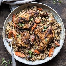 Slow Cooker Herbed Chicken and Rice Pilaf.