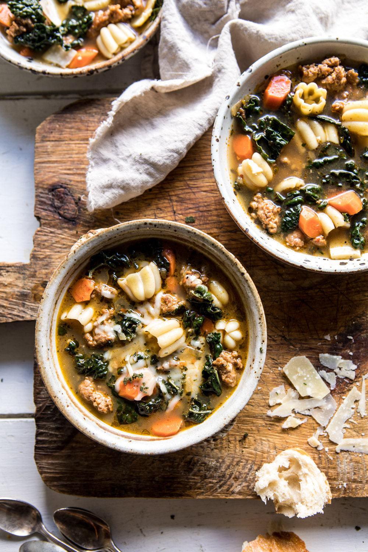 Spicy Italian Pesto Noodle Soup | halfbakedharvest.com #soup #easyrecipes #Italian #fall #autumn #winter #healthy