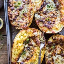 Stuffed Spaghetti Squash 4 Cheese Pesto Lasagna.