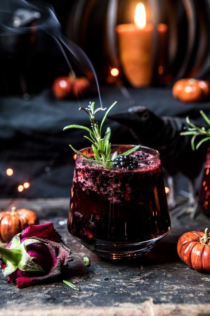 The Black Widow Smash | halfbakedharvest.com #halloween #cocktails #fall #autumn