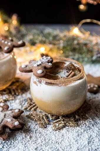 Gingerbread White Russian   halfbakedharvest.com #gingerbread #whiterussian #christmas #holiday #drink #cocktail