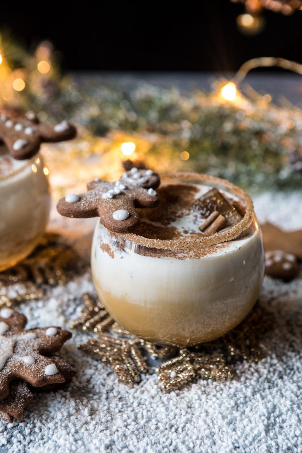 Gingerbread White Russian | halfbakedharvest.com #gingerbread #whiterussian #christmas #holiday #drink #cocktail