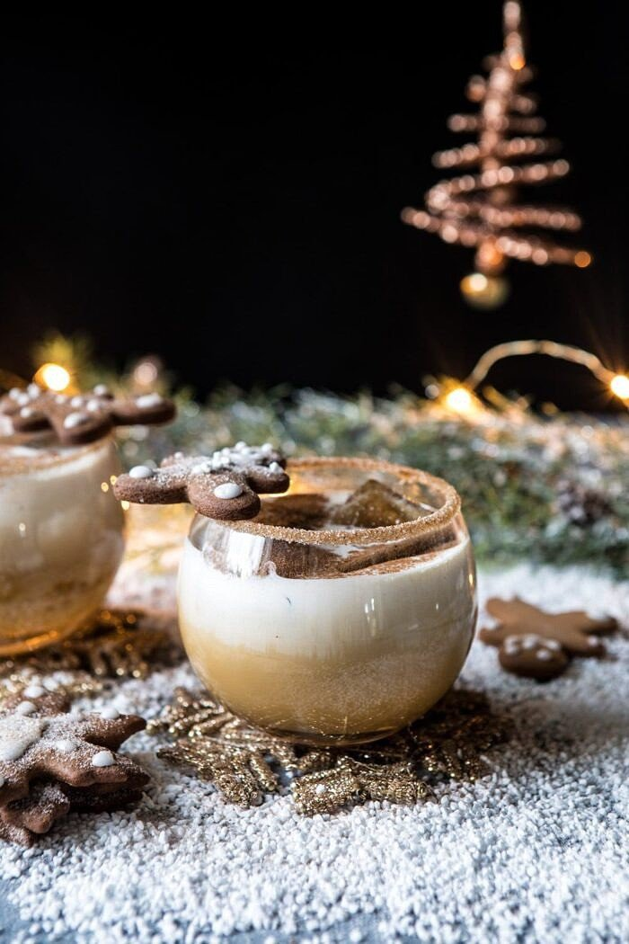 front on photo of Gingerbread White Russian | halfbakedharvest.com #gingerbread #whiterussian #christmas #holiday #drink #cocktail