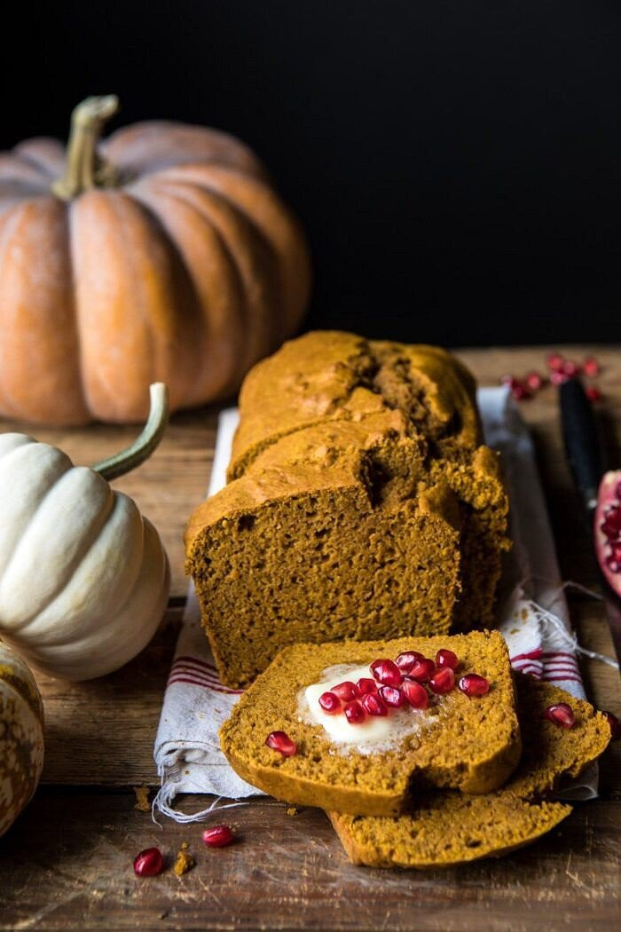 Healthy Pumpkin Ginger Bread | halfbakedharvest.com #healthy #pumpkin #bread #fall #thanksgiving #easyrecipes