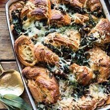 Herby Mushroom Croissant Stuffing | halfbakedharvest.com #stuffing #thanksgiving #easyrecipes #croissants