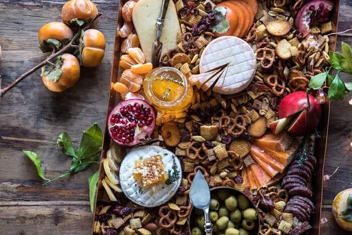 horizontal photo of Holiday Cheese Board