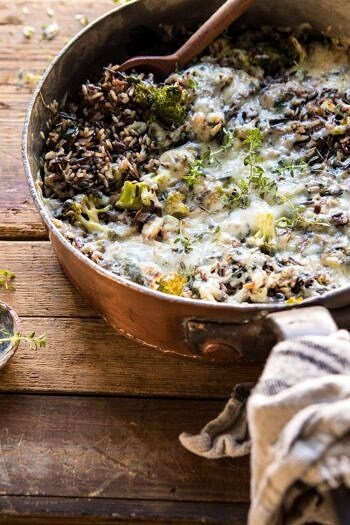 One Pan Broccoli Cheese Wild Rice Casserole.