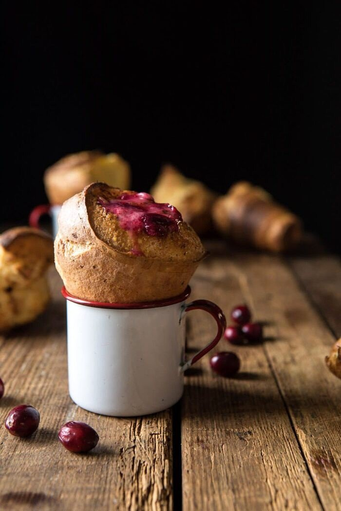 front on photo of Perfect Popovers with Cranberry Butter