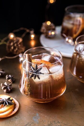 Vanilla Chai Old Fashioned | halfbakedharvest.com #bourbon #cocktail #drink #thanksgiving #holiday #chai