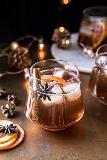 Vanilla Chai Old Fashioned | halfbakedharvest.com #bourbon #cocktail #drink #thanksgiving #holiday #chai