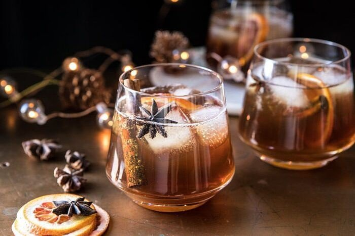 horizontal photo of Vanilla Chai Old Fashioned