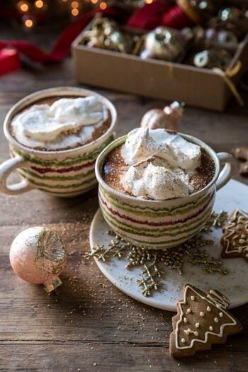 Vanilla Mocha Hot Cocoa | halfbakedharvest.com #hotchocolate #hotcocoa #chocolate #christmas #easyrecipes