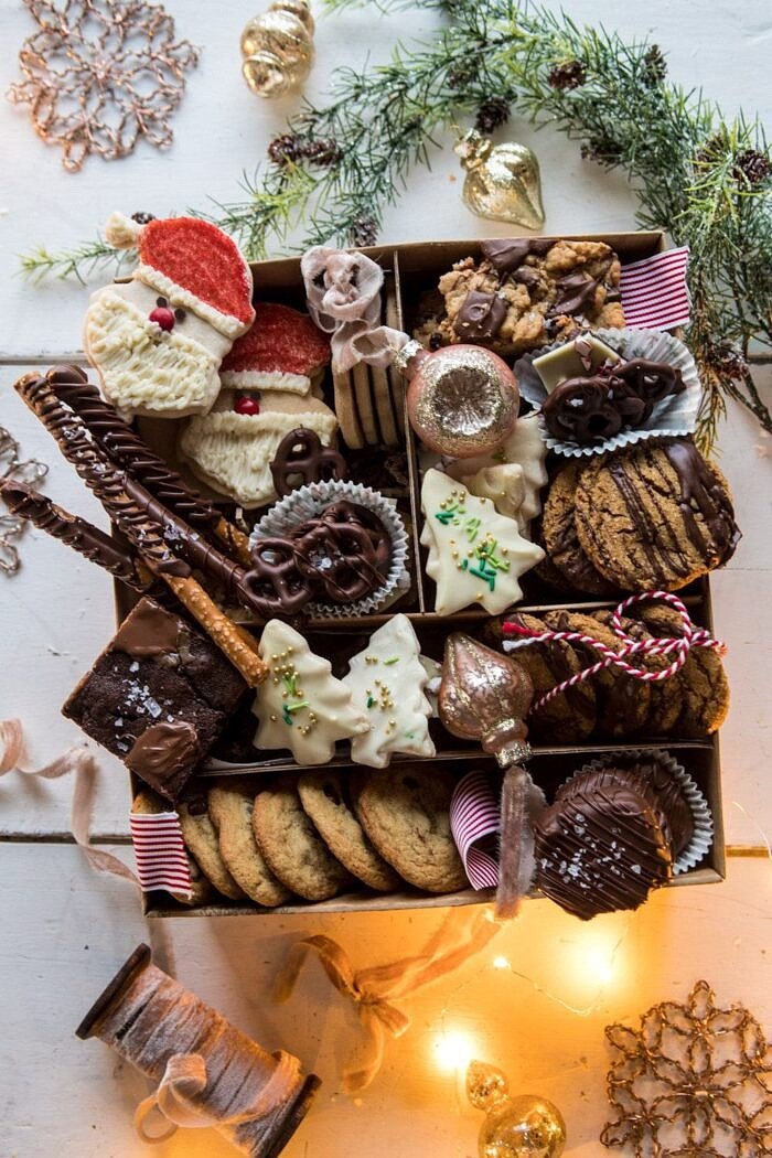 overhead photo of 2018 Holiday Cookie Box