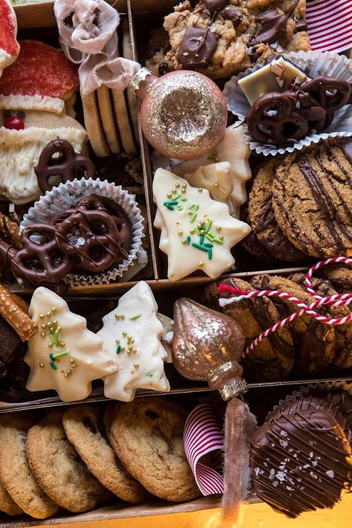 overhead close up photo of 2018 Holiday Cookie Box