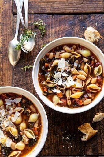 Instant Pot Pasta e Fagioli | halfbakedharvest.com #instantpot #soup #healthyrecipes