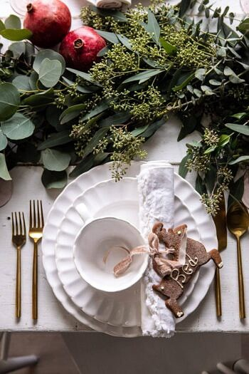 An Easy Christmas Tablescape | halfbakedharvest.com #christmas #tablescape #holiday #dinner