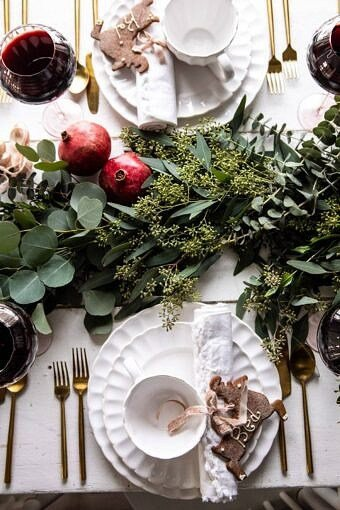 An Easy Christmas Tablescape | halfbakedharvest.com #christmas #tablescape #holiday #dinner