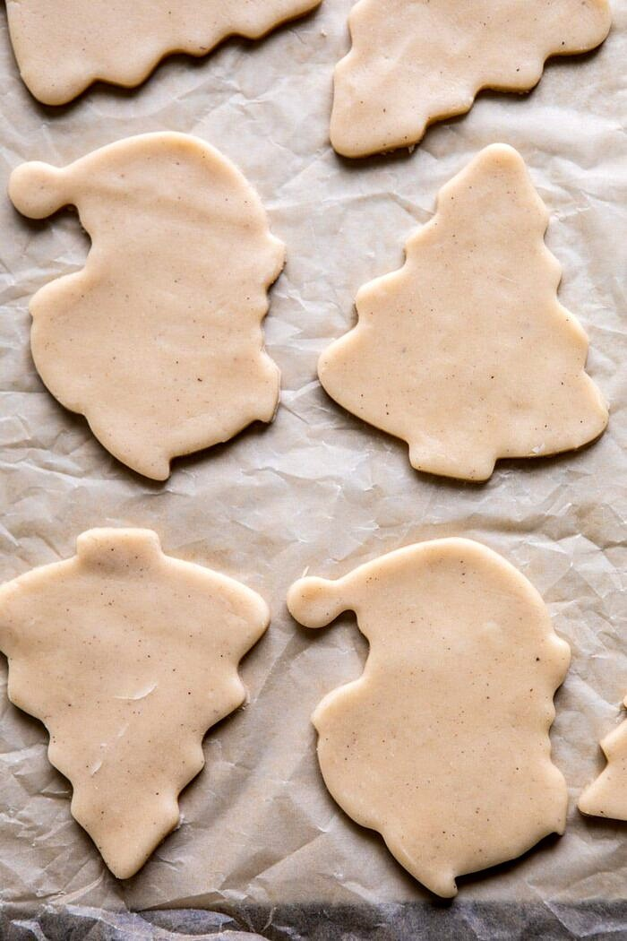 Chai Spiced Santa Cookies before baking
