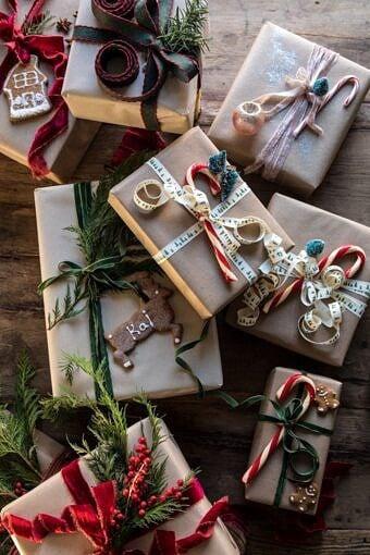 Christmas Gift Wrapping Ideas | halfbakedharvest.com #holiday #DIY #crafts #christmas
