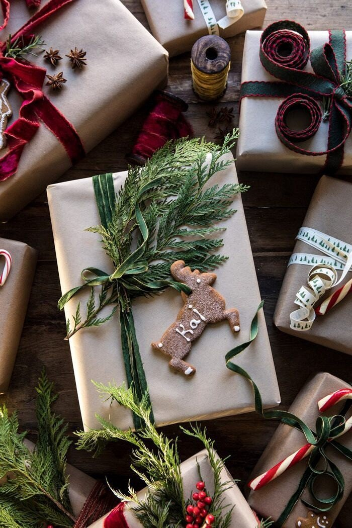 Christmas Gift Wrapping Ideas | halfbakedharvest.com #holiday #DIY #crafts #christmas