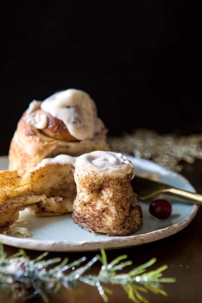 Easiest Overnight Eggnog Brioche Cinnamon Rolls