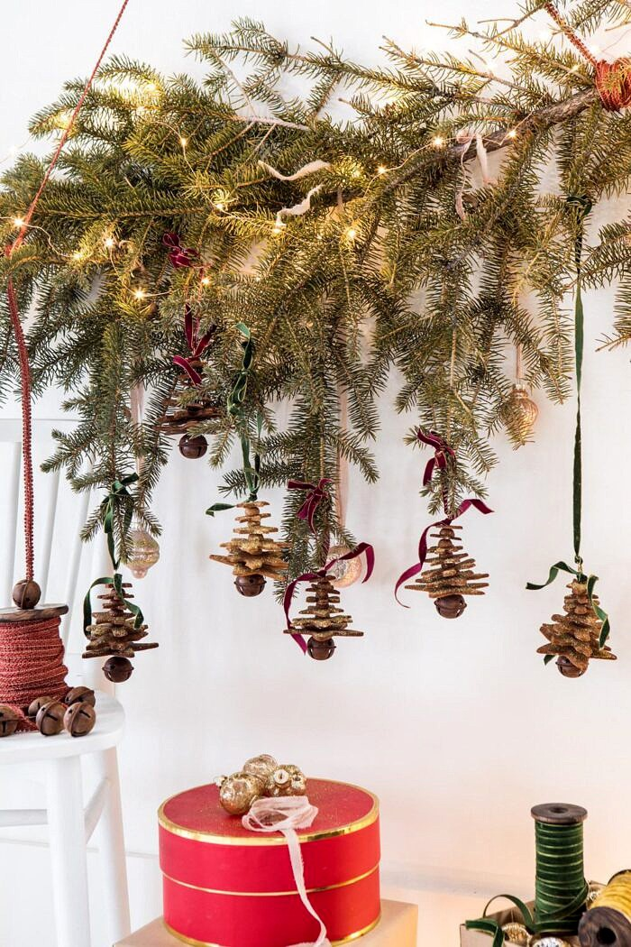 hanging Glittered Gingerbread Christmas Tree Ornaments