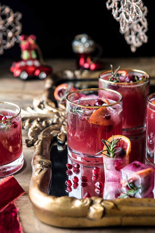 Holiday Cheermeister Bourbon Punch | halfbakedharvest.com #bourbon #holiday #christmas #cocktails #pomegranate