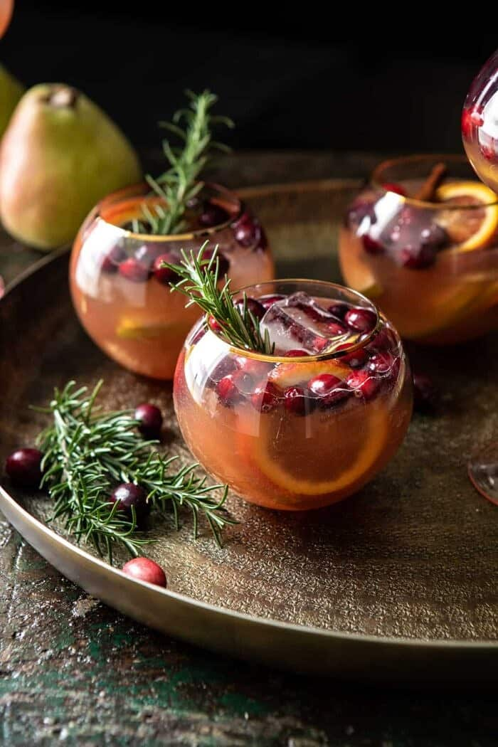 Holiday Pear Sangria + a Giveaway.