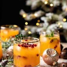 Holly Jolly Christmas Citrus Cocktail | halfbakedharvst.com #cocktail #Christmas #holiday #easyrecipes #citrus #winter