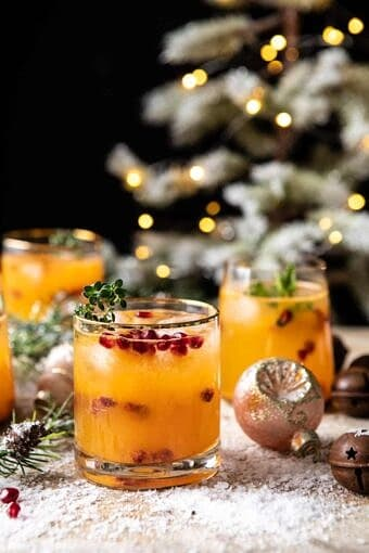 Holly Jolly Christmas Citrus Cocktail | halfbakedharvst.com #cocktail #Christmas #holiday #easyrecipes #citrus #winter