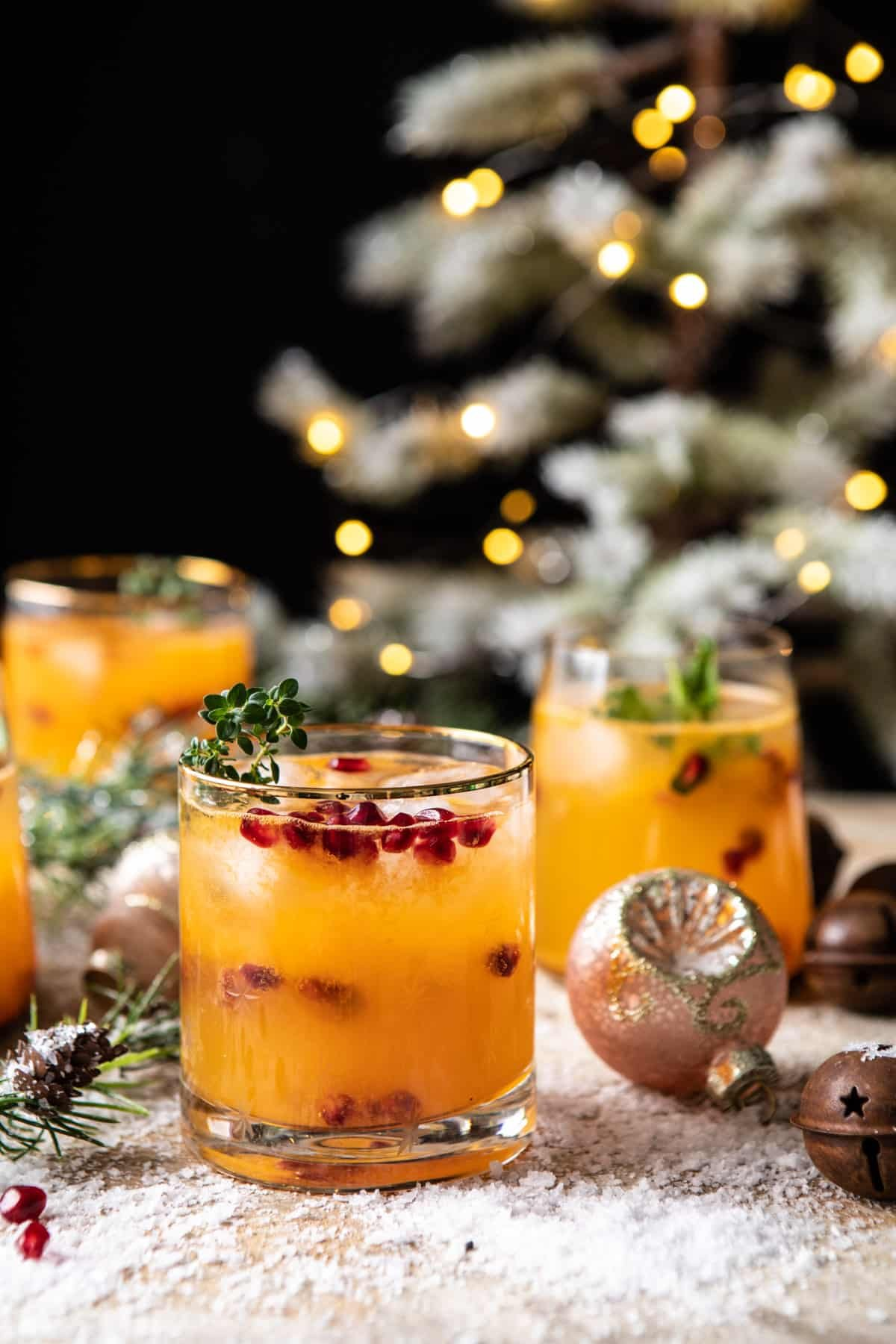 Holy Jolly Christmas Citrus Cocktail | halfbakedharvst.com #cocktail #Christmas #holiday #easyrecipes #citrus #winter