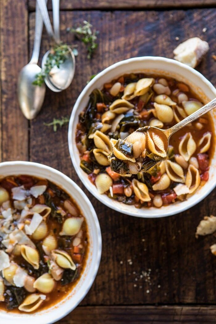spoonful of Instant Pot Pasta e Fagioli