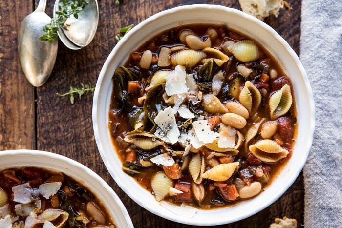 horizontal photo of Instant Pot Pasta e Fagioli