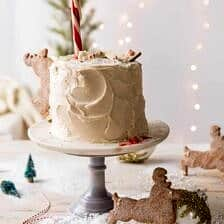 North Pole Cake | halfbakedharvest.com #chocolatecake #christmas #holiday #dessert