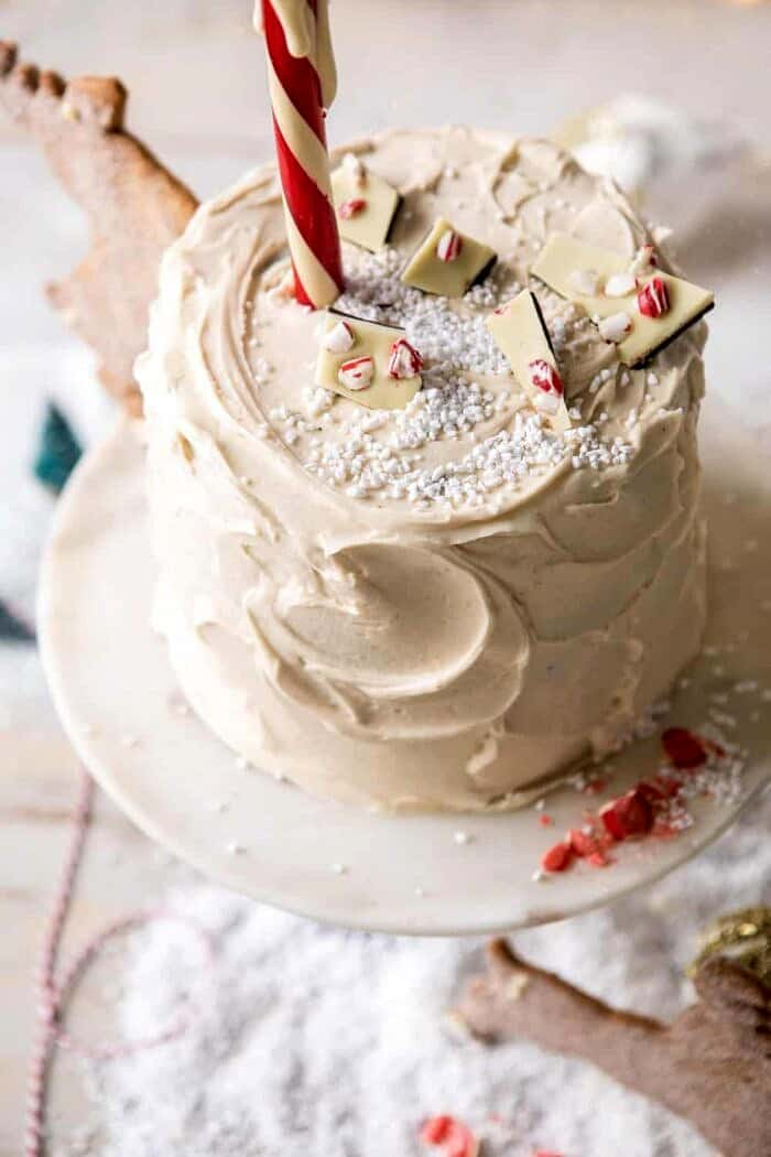overhead photo of North Pole Cake