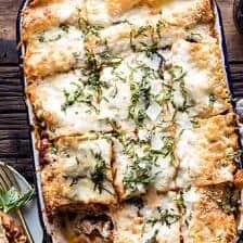 Pesto Bolognese Lasagna.