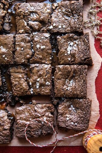 Salted Caramel and Milk Chocolate Brownies | halfbakedharvest.com #brownies #chocolate #caramel #Christmas #dessert