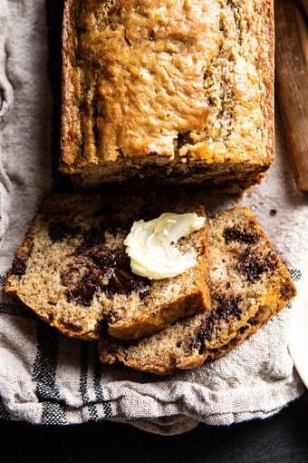 Chocolate Chunk Coconut Banana Bread | halfbakedharvest.com #bananabread #easyrecipes #healthyrecipes #chocolate #dessert