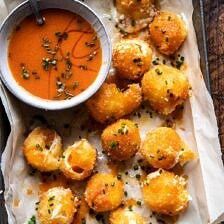 Fried Buffalo Goat Cheese Balls.