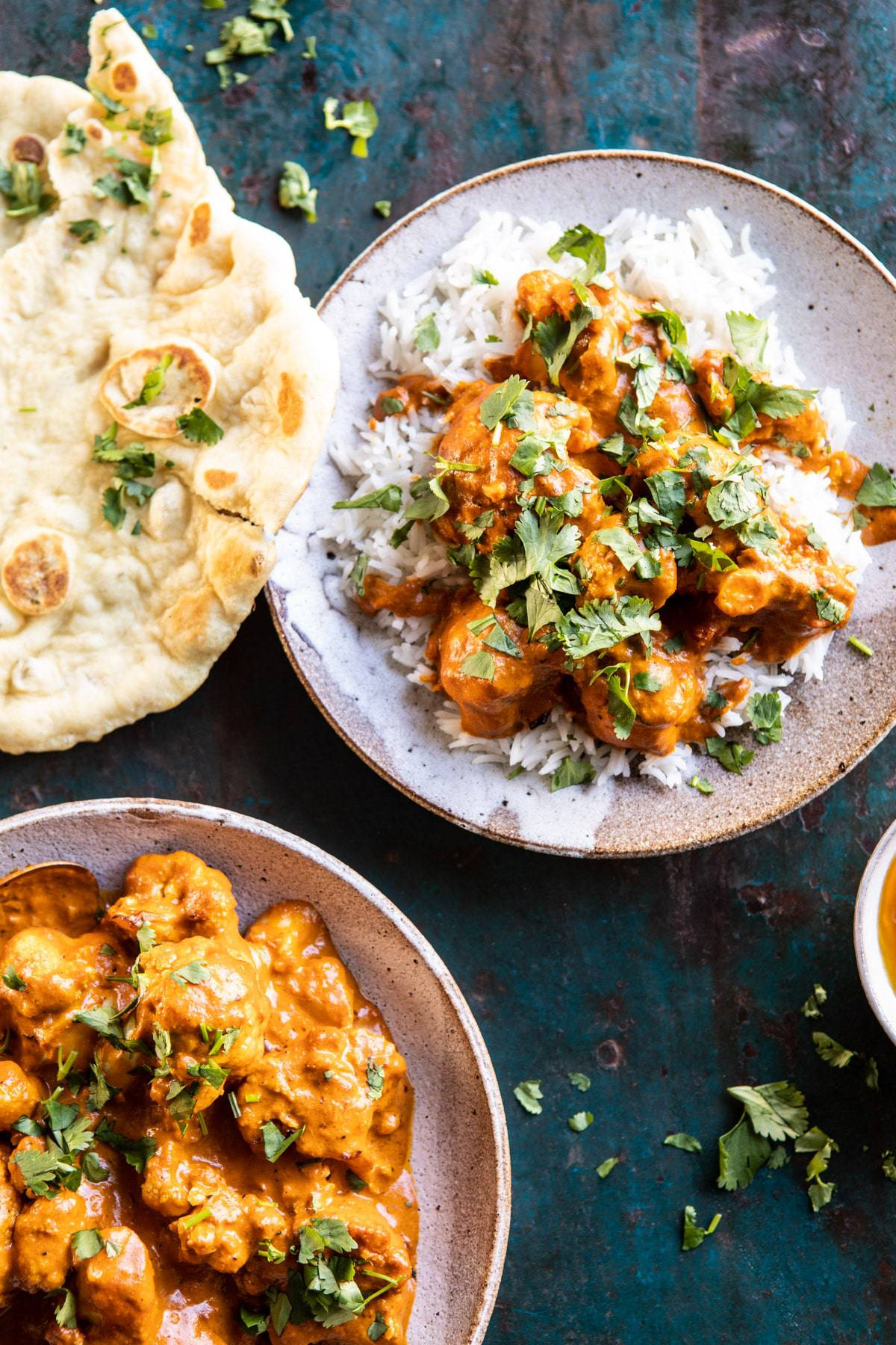 Indian Coconut Butter Cauliflower | halfbakedharvest.com #healthyrecipes #Indian #cauliflower #30minutes #easyrecipes
