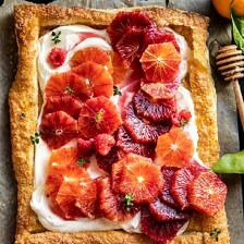 The Simplest Ombrè Citrus Cream Tart | halfbakedharvest.com #dessert #winter #citrus #healthyrecipes #easyrecipes